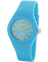 Cactus CAC-76-M04 - Reloj de pulsera niños, Plástico, color Turquesa