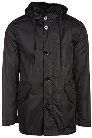 Prada blouson homme en Nylon caban noir EU M (UK 38) UGW839 Q04 F0002