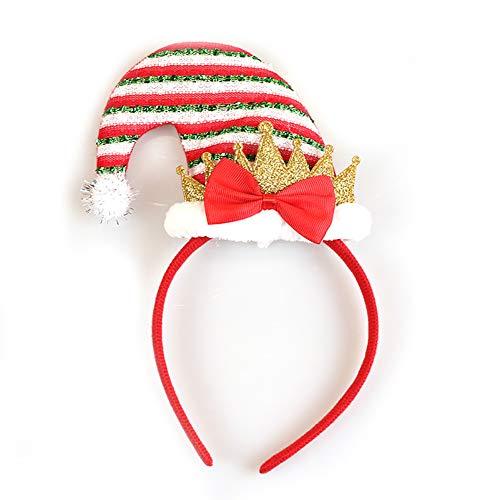 Xiton Christmas elf hat Stirnband Santa hat Stirnband für Kids Adult Santa es Helfer Headband Party Accessoire-Wide Strip