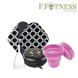 Kit menstruel debutante coupe menstruelle en Silicone Médical taille 1 + serviette...