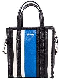 Balenciaga Mujer 513989DE9BN6460 Azul/Negro Cuero Bolso Tipo Shopper