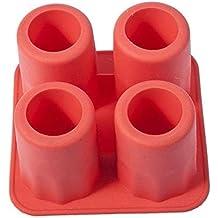 f8506e0ec027e DaKi Fashion 4 Cup Form Schnapsglas Cube Maker Bar DIY Freeze Form Ice  Drink rot