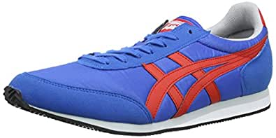 Asics Sakurada, Chaussures de trail mixte adulte - Bleu (4223-Mid Blue/Fiery Red) - 37.5 EU, 4 UK