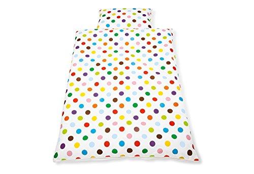 Pinolino 630666-0 - Bett- und Kopfkissenbezug für Kinderbetten, sieger design for Pinolino 'Dots'