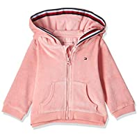 Tommy Hilfiger Unisex Baby Velour Zip Hoodie, Pink (Pink Icing 639), 68