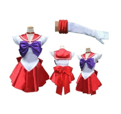 Sailor Kostüm Moon Männer - [Keine Marke Waren] super Narikiri! Sailor Mars-Stil Cosplay [L Groesse fuer den Seemann Mann] Kostuem Sailor Moon Anime Cosplay