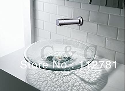 Tougboo Wall Mounted Chrome Touchless Automatic Sensor Basin Faucet 0703,Chrome
