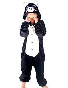 Happy Cherry Kind Schlafanzug Warmer Flanell Einteiler Pyjamas Unisex Cosplay Kostüme Tierkostüm Schwein Dicke...