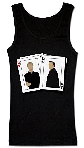 Frank and Claire King and Queen Playing Cards Underwood Camiseta sin Mangas para Mujer XX-Large