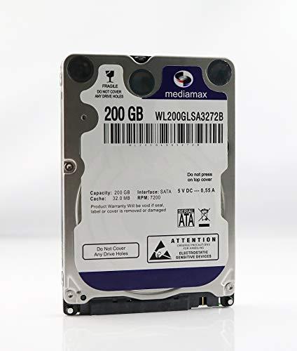 200 Gb Sata-festplatte (Mediamax 200 GB 2,5
