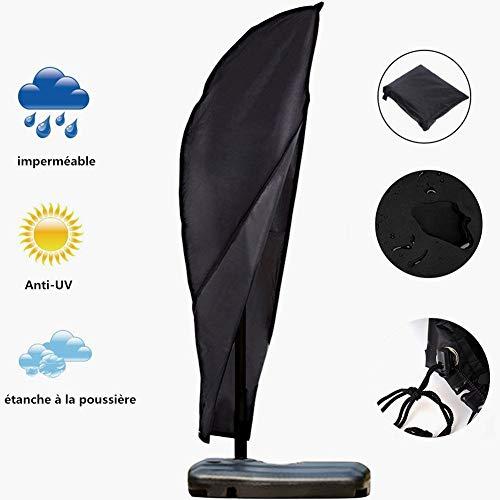 TuKnon Schutzhülle für Sonnenschirm, Abdeckung Sonnenschirm Schutzhülle für Ampelschirm Garten Sonnenschirm Abdeckung mit Reißverschluss, 210D Oxford Wasserdicht/Anti-UV mit Aufbewahrungstasche