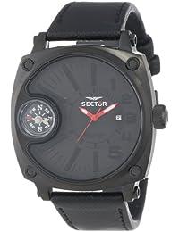 Sector Herren-Armbanduhr XL Compass Analog Quarz Nylon R3251207003