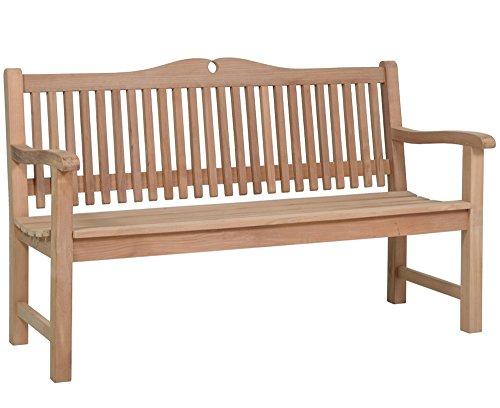Lünse Gartenmöbel Teakholz Gartenbank 'Piccadilly' 3-Sitzer 160 cm