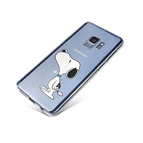 licaso Samsung Galaxy S9 Handyhülle TPU mit Dog Sniffing Print Motiv - Transparent Cover Schutz Hülle H& Schnüffeln Aufdruck Druck