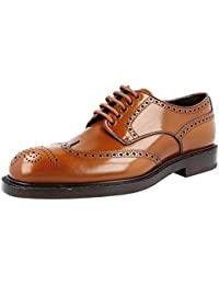 Men's 2DE097 Saffiano Leather Business Shoes