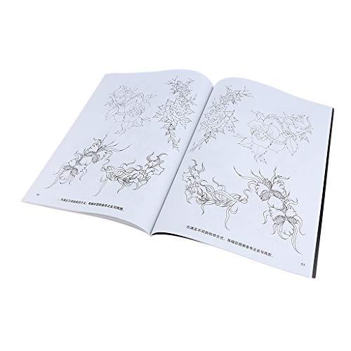 CUTICATE Multi Arten Blumen Tattoos Buch Tattoos Inspiriert Färbung Body Art (Bücher Muster Färbung)
