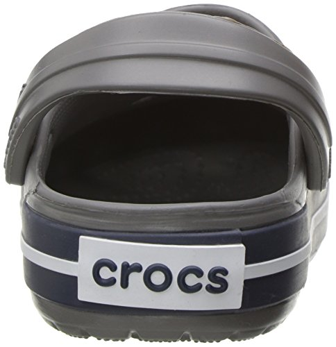 Crocs Crocband Clog K Smo/Navy, Sabots Mixte Enfant Gris (Smoke/Navy)