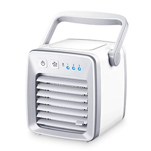 luftkühler mit wasserkühlung, 3 der Windgeschwindigkeit, 20m² Abkühlzone,3-in-1 Klimagerät • Ventilator • Luftbefeuchter,Weiß