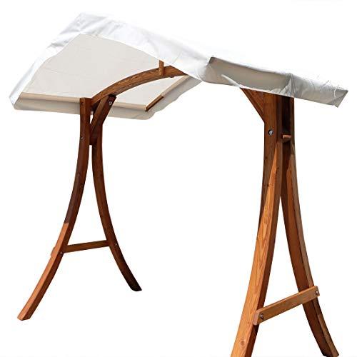 Design Hollywoodschaukel Gestell 'KUREDO/Aruba' aus Holz Lärche mit Dach von AS-S
