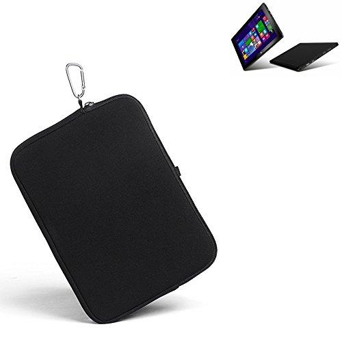 K-S-Trade® für odys Wintab 9 Plus 3G Neopren Hülle Schutzhülle Neoprenhülle Tablethülle Tabletcase Tablet Schutz Gürtel Tasche Case Sleeve Business schwarz für odys Wintab 9 Plus 3G