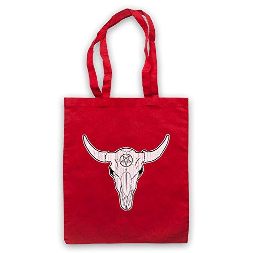 Buffalo Skull Illustration Umhangetaschen Rot