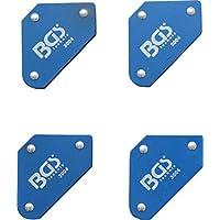 BGS 3004 | Juego de mini soportes magnéticos | 45° - 90° - 135° | 4 piezas