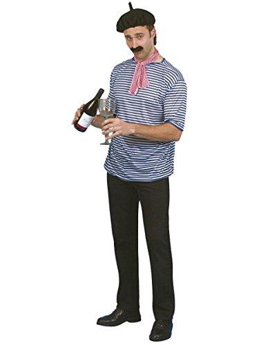 Franzose Kostüme Shirt - Smiffys Herren Kostüm Franzose Karneval