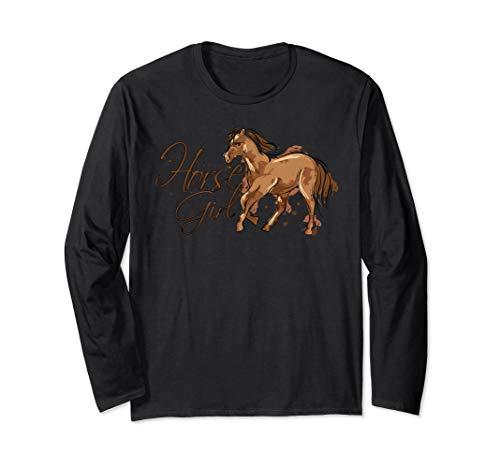Pferde Horse Girl Pony Esel Reiten Pferdenaar  Langarmshirt (Esel Reiten Kostüm)