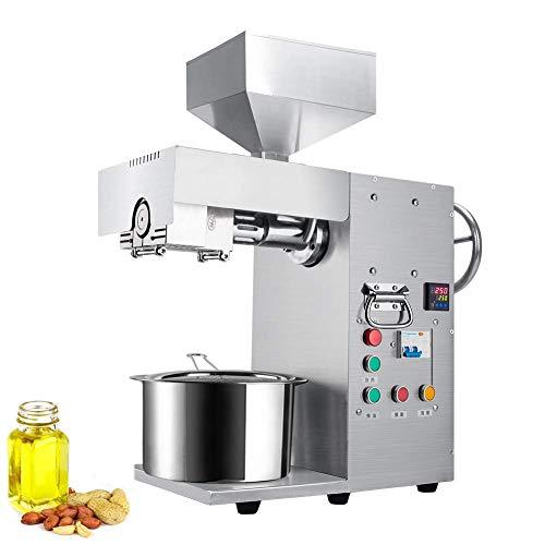Automatische Ölpresse Nuss Kalt Heißölpresse 304 Edelstahl Industrielle Rizinusölpresse Multifunktionale schwere Erdnusspresse (Industriellen Hanf Samen)