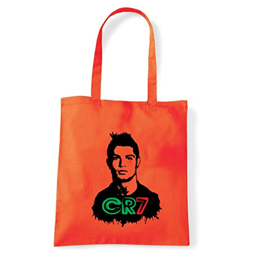 Art T-shirt, Borsa Shoulder Cristiano Ronaldo CR7 Arancio