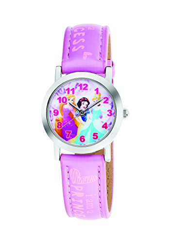 AM:PM Disney Cinderella Rapunzel Schneewittchen Kinderuhr Analog Leder DP140-K267 (Schneewittchen Rapunzel Und)