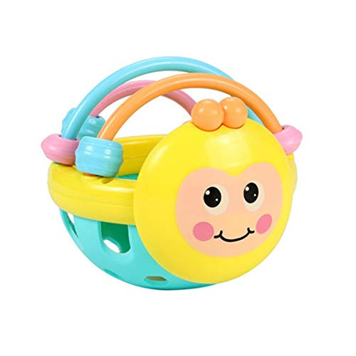 HShyxlkj Baby Toys Cartoon Bee Soft Colorful Baby Rattle Ball Hand Bell Educational Teething -