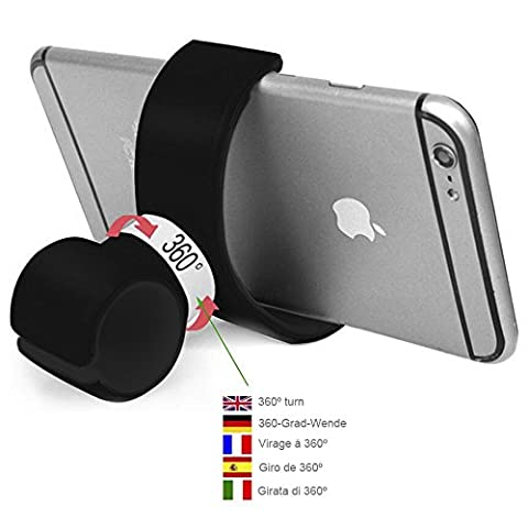Color Dreams® All in one Universal Bike Bicycle Mount Holder Handlebar and Car Mount 360 Degree Swivel Air Vent Magnetic Universal Car Mount Phone Holder for Iphone SE 6S 6S plus 6 6 plus 5 5S 5C 4 4S , Samsung Galaxy S7 / S6 / S5 / S4 / Note 4/3 , Sony, BQ, Motorola, Google Nexus, LG G3 and many others phones or GPS devices (Black)
