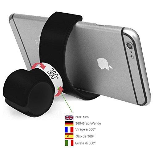 Color Dreams Supporto per cellulare auto bici bicicletta moto desktop Tutto in uno. Il nostro supporto per cellulare universale è possibile utilizzare la bicicletta, in auto, in ufficio, a casa, ecc 360 ° di rotazione. Universale per tutti i tipi di smartphone come Iphone SE 6S 6S plus 6 6 plus 5 5S 5C 4 4S , Samsung Galaxy S7 / S6 / S5 / S4 / Note 4/3 , Sony, BQ, Motorola, Google Nexus, LG G3 e molti altri telefoni o dispositivi GPS (Nero)
