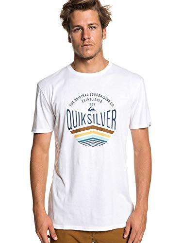Quiksilver Herren Sunset Logo T-Shirt, White, L