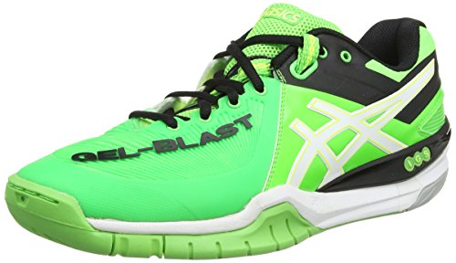 Asics Gel-Blast 6, Chaussures Multisport Outdoor Hommes - Vert (Dark Green/Flash Orange/Black 8030), 44.5 EU