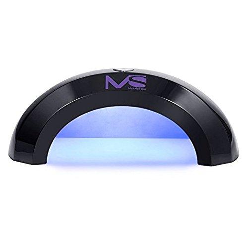 MelodySusie® Violetilac Mini 6W LED Séchoir à Ongles pour Gel LED Vous pouvez l'apporter à n'importe où !!! - Noir