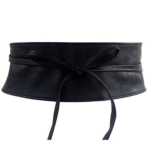 UNOUNOUNO Cintura Fusciacca Donna Cinturone larga obi per legare donna ECO PELLE - diversi (Link Cintura)
