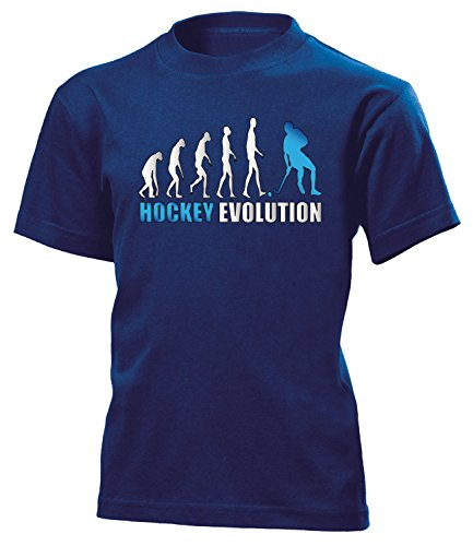 Hockey Evolution 618 Kinder T-Shirt (K-N-Weiss-Blau) Gr.152 (Jersey Hockey Jungen)