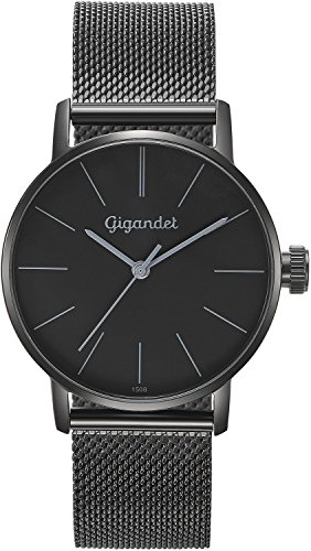 Gigandet Women's Quartz Wrist Watch Minimalism Analogue Stainless Steel Mesh Bracelet Black G43-019