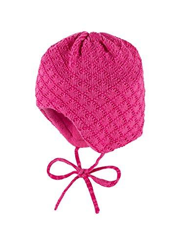 maximo-baby-madchen-mutze-ausgenaht-bindeband-rhombenstruktur-rosa-azalee-60-41-cm-herstellergrosse-