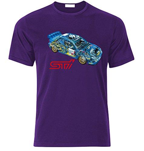 SUBARU IMPREZA GD STI WRX WRC McRae Mäkinen Solberg Fan T Shirt T-SHIRT Lila
