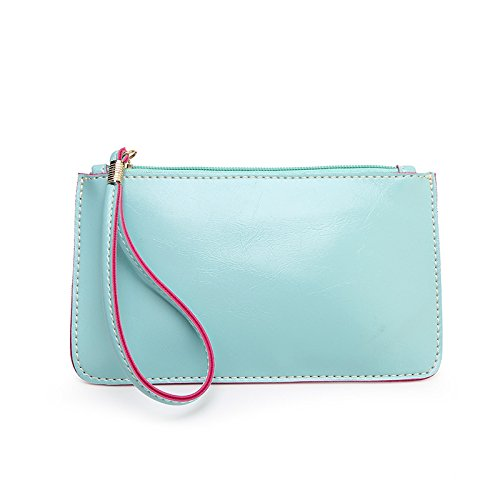 Mefly La Nuova Pelle Borsetta Telefono Mobile Wallet Blu Blue