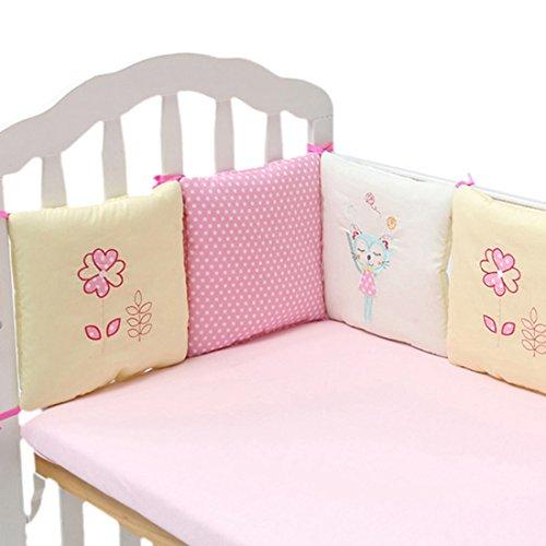 Jiyaru Bumper Für Babybett Baby Nestchen Bettumrandung Baumwolle Lila