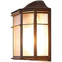 Lámpara de Pared de 25 Cm, E27 luz de Pared Estilo rústico Retro, Aplique de Pared Antiguo al Aire Libre, Forma clásica de iluminación de terraza, ...