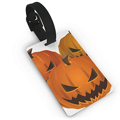 (Ewtretr Gepäckanhänger for Travel Halloween Pumpkins Luggage Bag Tags Travel ID Identification Labels Set for Bags & Baggage)