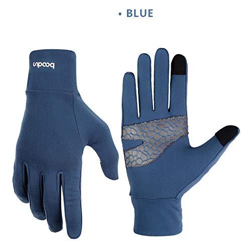 WYYUE Winterhandschuhe Herren Damen Fahrradhandschuhe mit Touchscreen Texting/Fahren Laufen/Laufen/Texting/Angeln/Ski Outdoor Sport Handschuhe,Blue,L -