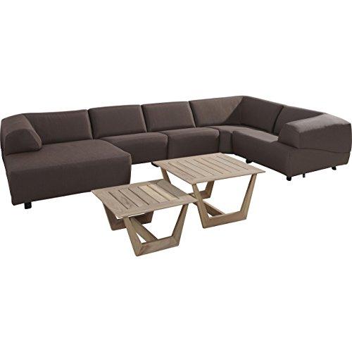 4seasons Outdoor Hugo 7 pièces Salon Groupe Aubergine avec coussin canapé lounge