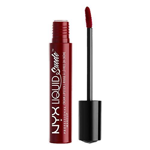 NYX Professional Makeup Lippenstift - Liquid Suede Cream Lipstick, samtig-weicher Creme-Lippenstift, aufregend mattes Finish, 4 ml, Cherry Skies 03