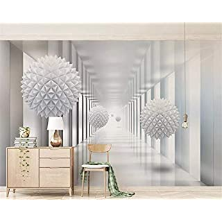 REAGONE 3D Wallpaper Abstract Architectural Polygon Ball 3D Stereo Space Tv Bedroom Background Wall Wallpaper Home Decor,150X105 Cm (59.1 By 41.3 In)